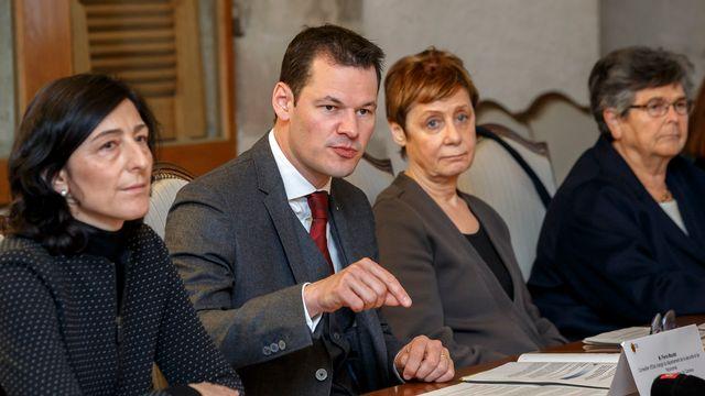 Le conseiller d'Etat Pierre Maudet a présenté mardi l'Opération papyrus. [Salvatore Di Nolfi - keystone]