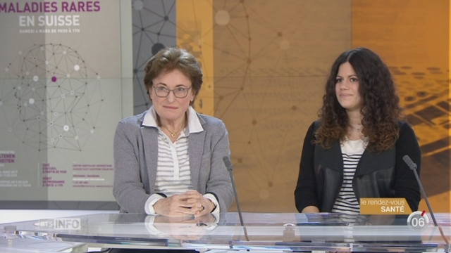 Le rendez-vous santé: Anne-Françoise Auberson et Nadia Coutellier évoquent les maladies rares [RTS]