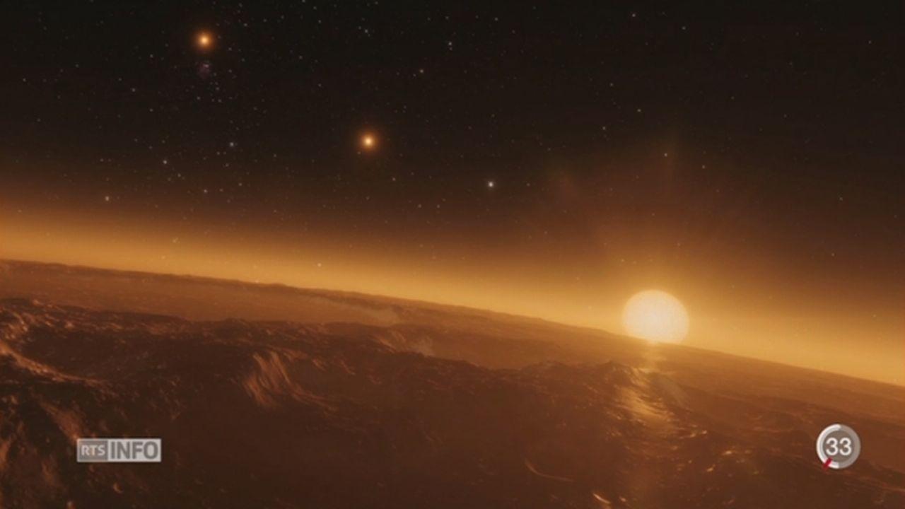 Astronomie: découverte d'une naine froide et de ses 7 planètes [RTS]