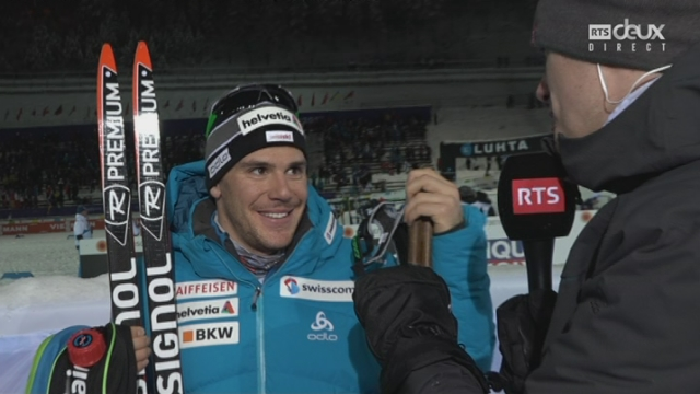 Mondiaux de Lahti (FIN): fond, 1-2 sprint messieurs: interview de Jovian Hediger après son élimination [RTS]