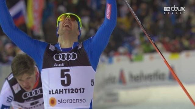 Mondiaux de Lahti (FIN): fond, finale sprint messieurs: victoire de Federico Pellegrino (ITA) devant Sergey Ustilov (RUS) et Johannes Klaebo (NOR) [RTS]