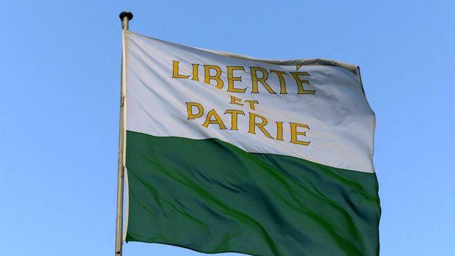 Le drapeau du canton de Vaud. [Fabrice Coffrini - Keystone]
