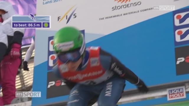 Mondiaux de Lahti (FIN): saut à ski, qualifications, petit tremplin, HS 100 : Andreas Schuler [RTS]