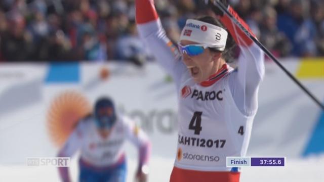 Skiathlon, 2x7.5km femmes: Marit Bjoergen (NOR) s'impose [RTS]