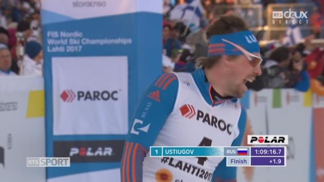 Mondiaux de Lathi (FIN), fond, skiathlon, 30km: le Russe Ustiugov s'impose [RTS]
