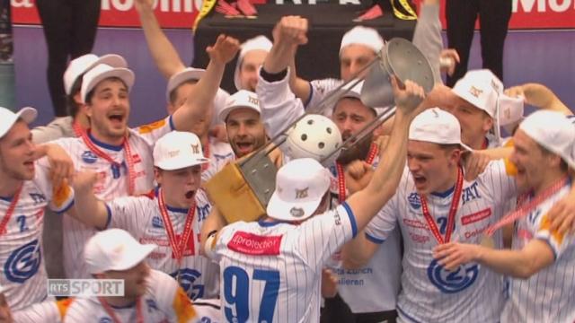 Finale messieurs, GC Zurich - HC Rychenberg Winterthour (8-7): la victoire va aux Zurichois [RTS]