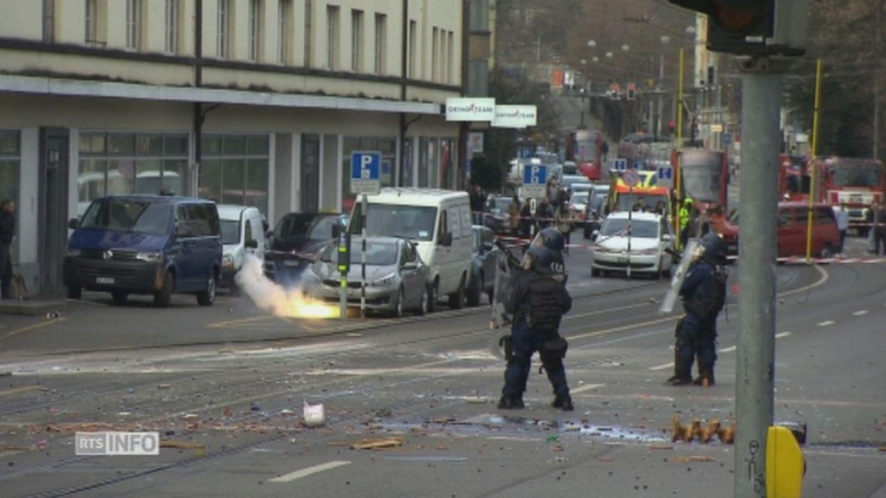 Des heurts avaient déjà éclaté le 22 février 2017 lorsque la police est intervenue pour déloger des squatteurs. [RTS]