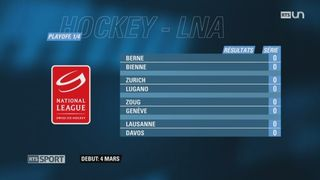 Hockey - LNA: les affiches des Playoff sont connues [RTS]