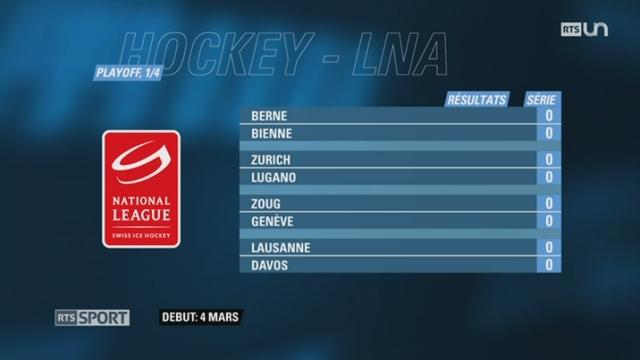 Hockey - LNA: les affiches des Playoff sont connues [RTS]
