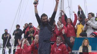 Voile - Vendée Globe: l'arrivée d'Alan Roura était remplie d'émotions [RTS]