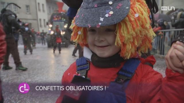 FR: un cortège spécial pour les enfants a été organisé pour Mardi gras [RTS]