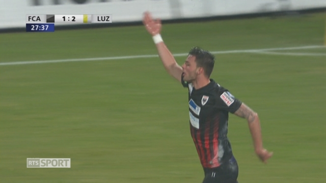 Coupe Suisse, 1-4 finale: Aarau - Lucerne 1-2, 29e Josipovic [RTS]