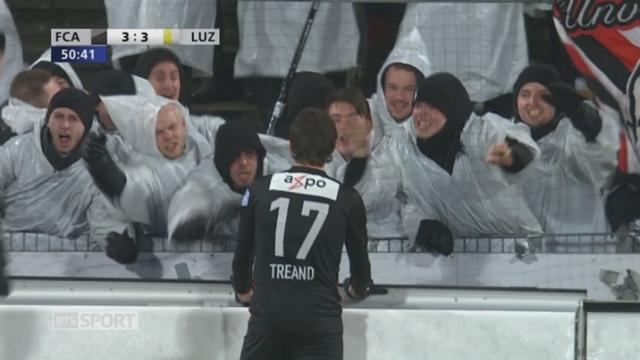 Coupe Suisse, 1-4 finale: Aarau - Lucerne 3-3, 51e Tréand [RTS]