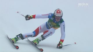 Kranjska Gora (SLO), Géant 2e manche: Elia Zurbriggen (SUI) [RTS]