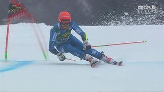 Kranjska Gora (SLO), Géant 2e manche: Leif Haugen (NOR) sur la 2e marche du podium [RTS]