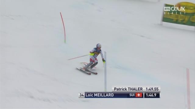 Kranjska Gora (SLO), Slalom 2e manche: Loic Meillard (SUI) [RTS]
