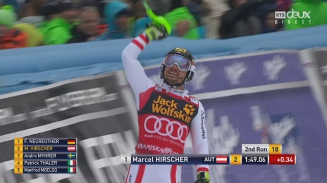 Kranjska Gora (SLO), Slalom 2e manche: Marcel Hirscher (AUT) s'adjuge un 14e globe de cristal ! [RTS]