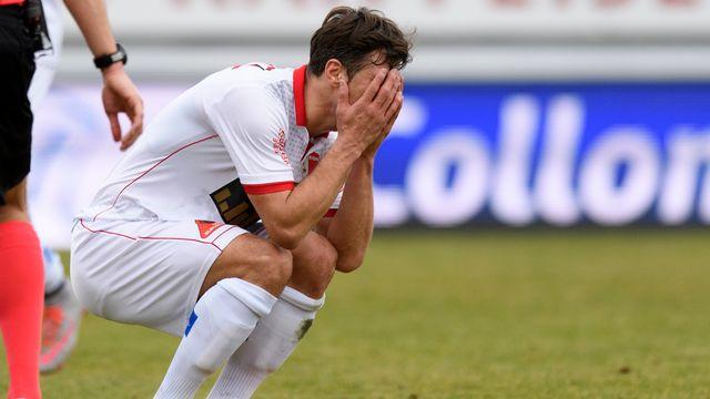 Les joueurs du FC Sion sont entrés trop tard dans la partie. [Laurent Gillieron - Keystone]