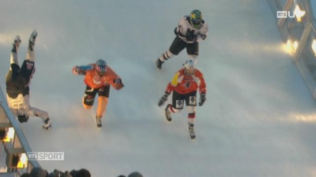 Anaïs Morand est passée du patinage artistique au crashed ice [RTS]