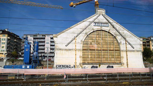 Le chantier du futur Pôle muséal et culturel du nouveau Musée cantonal des Beaux-Arts à Lausanne, en novembre 2016. [Laurent Gillieron - Keystone]