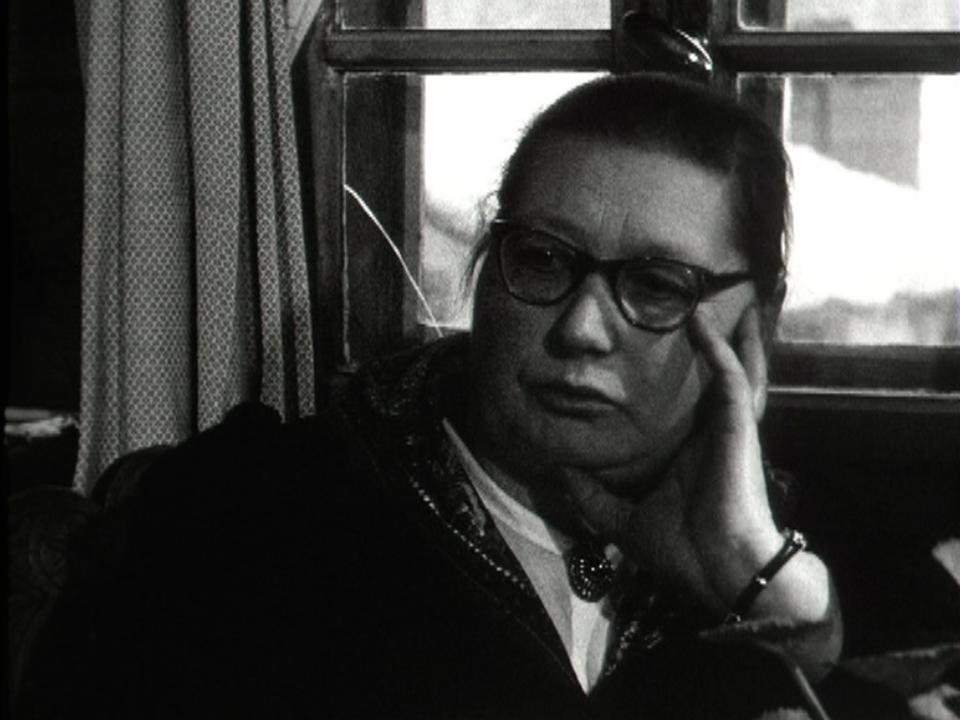 Marie Métrailler à Evolène en 1963. [RTS]