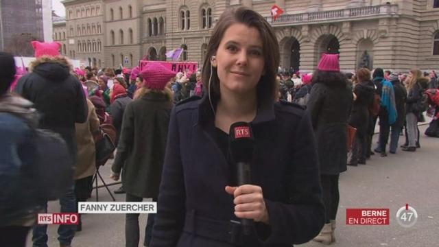 Journée int. de la femme: le commentaire de Fanny Zuercher depuis Berne [RTS]