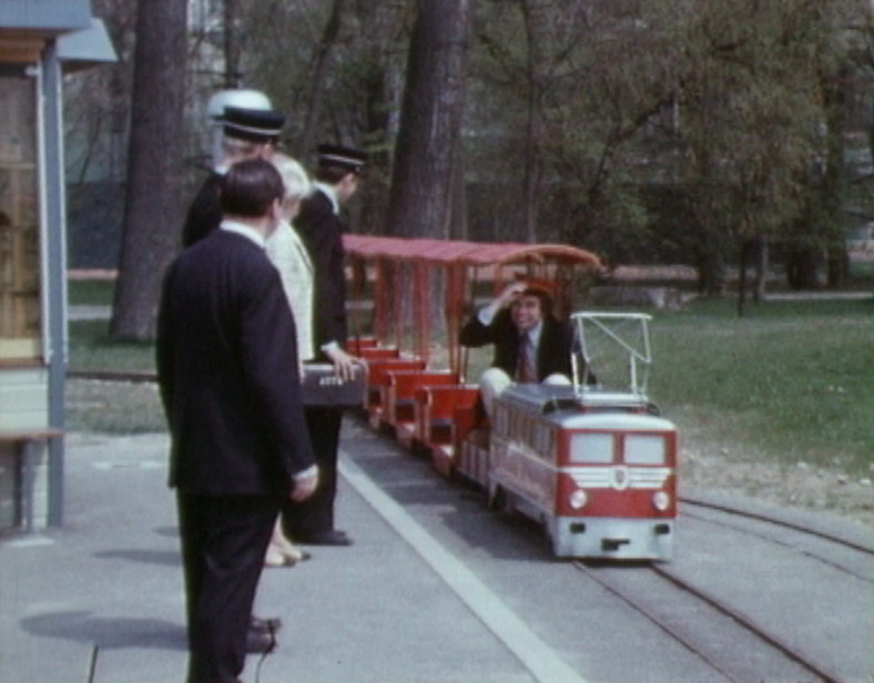 Le petit train de Vidy en 1970.