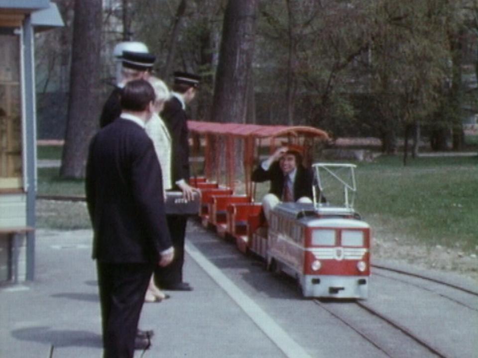 Le petit train de Vidy en 1970. [RTS]