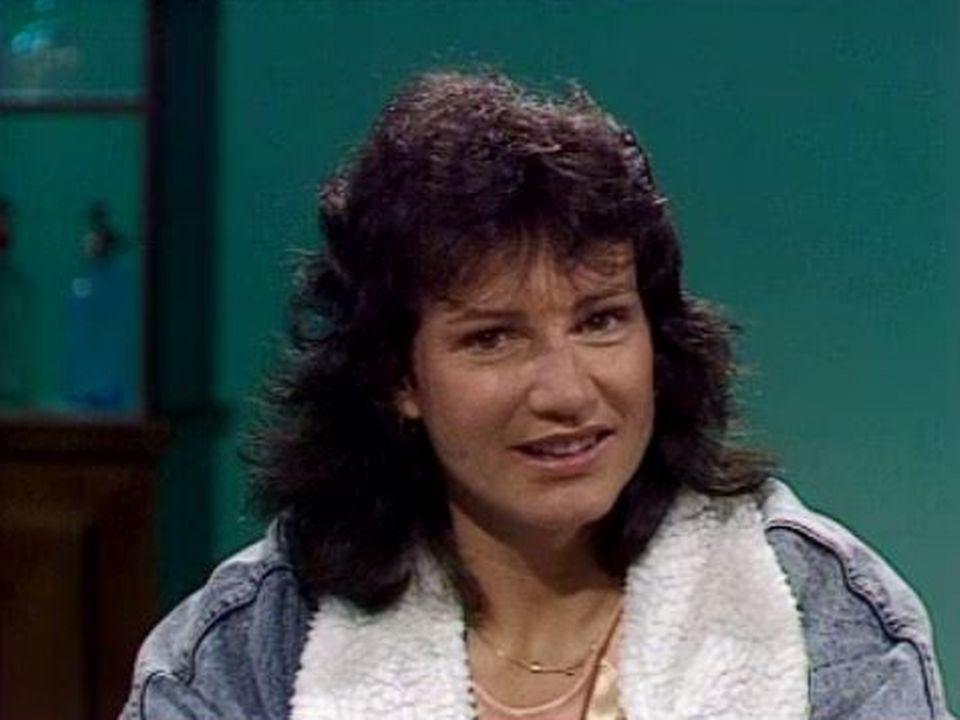L'ancienne championne de ski Lise-Marie Morerod en 1990. [RTS]
