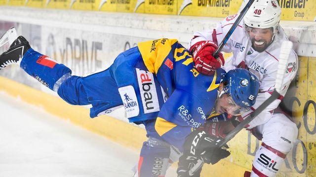 Lausanne se bat dos au mur contre Davos. [Gian Ehrenzeller - Keystone]