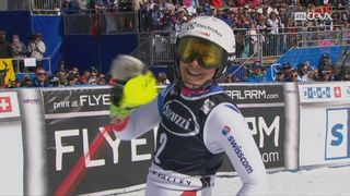 Squaw Valley (USA), slalom 1re manche: Wendy Holdener (SUI) [RTS]
