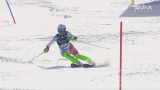 Squaw Valley (USA), slalom 1re manche: Denise Feierabend (SUI) [RTS]