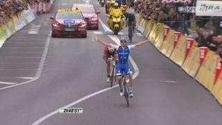 Etape 8, Nice-Nice: De la Cruz (ESP) s'impose devant ces compatriotes Contador 2e et Soler 3e [RTS]