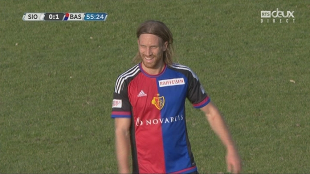 Super League, 24e journée: Sion - Bâle 0-1, 55e Michael Lang [RTS]