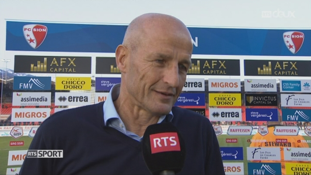 Super League, 24e journée: Sion - Bâle 0-1, interview de Peter Zeidler [RTS]