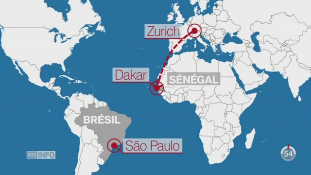 Un crash évité de justesse à Dakar — Swiss