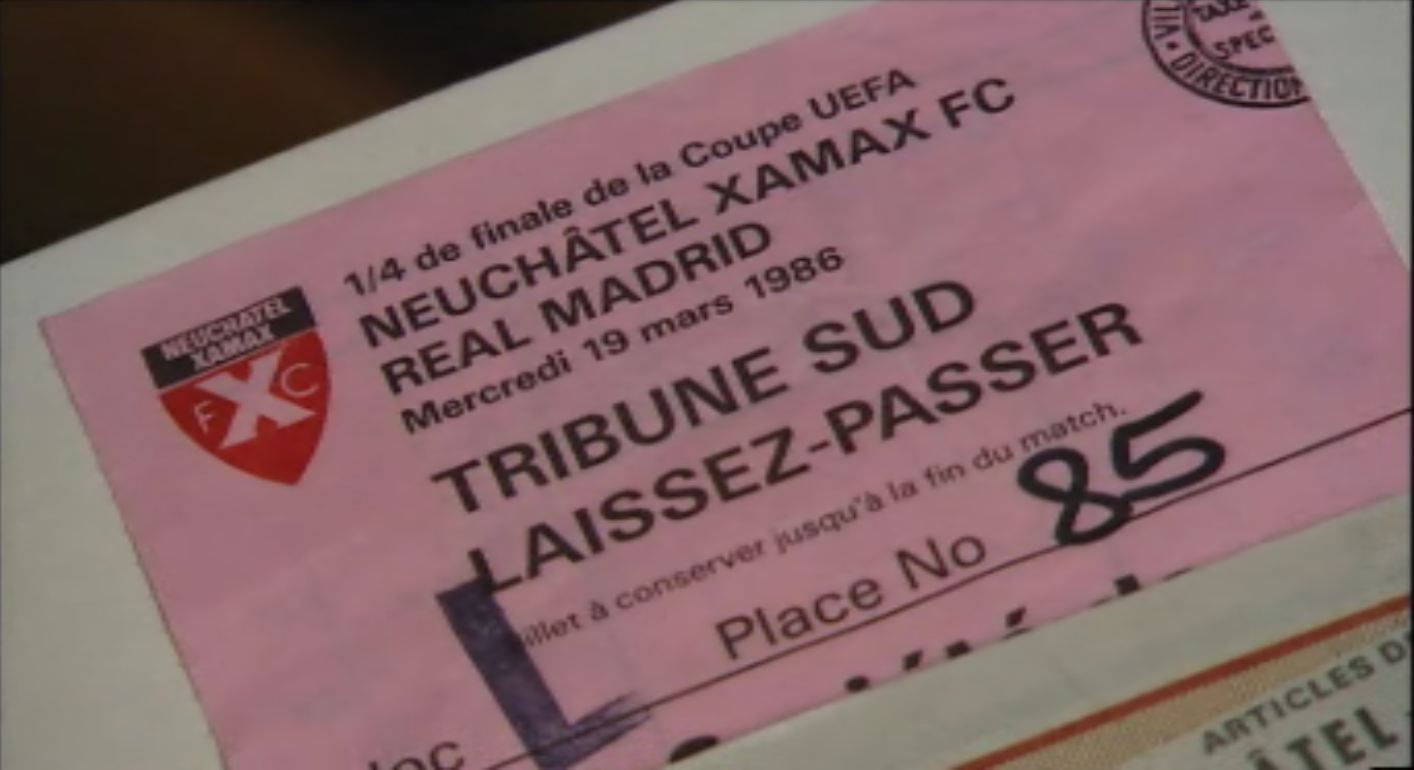 Billet du match Neuchâtel Xamax contre Real Madrid.