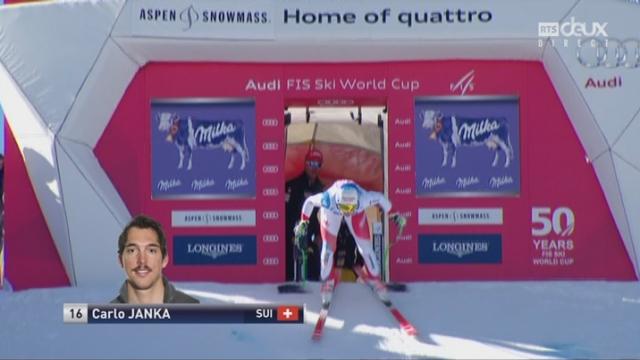 Aspen (USA), descente: Carlo Janka (SUI) [RTS]