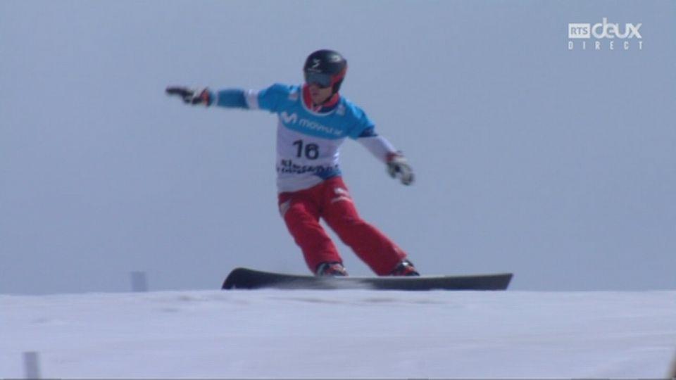 finale snowboard Géant parallèle messieurs: Nevin Galmarini (SUI) réussit sa petite finale et se pare de bronze! [RTS]