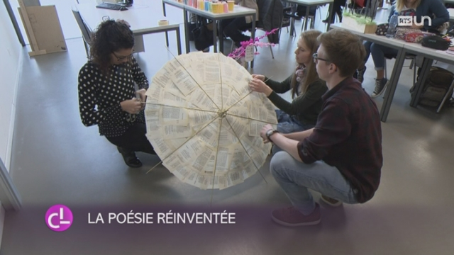 FR: une classe du post-obligatoire relève le défi du Printemps de la poésie [RTS]