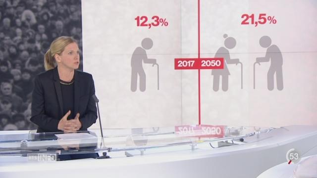 Vieillissement de la population: les explications de Delphine Gianora [RTS]