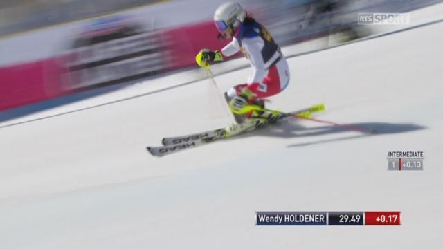 Aspen (USA), slalom 1re manche: Wendy Holdener (SUI) [RTS]