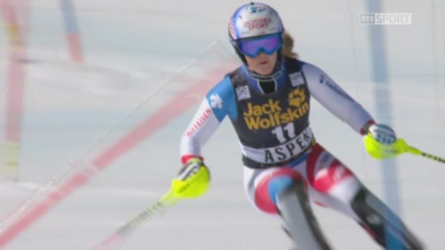Aspen (USA), slalom 1re manche: Mélanie Meillard (SUI) [RTS]