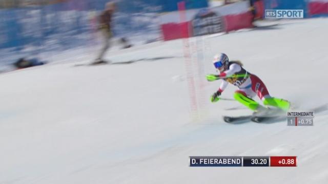 Aspen (USA), slalom 1re manche: Denise Feierabend (SUI) [RTS]