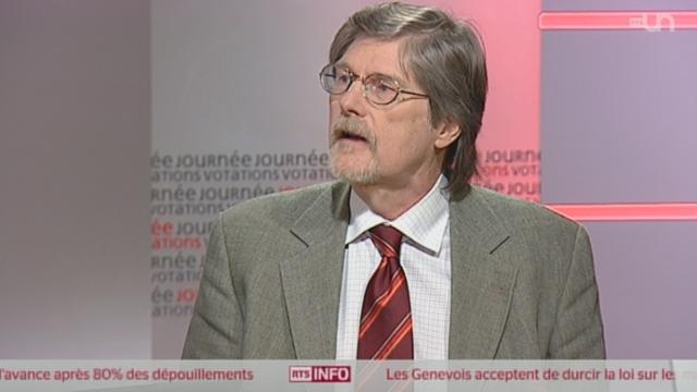 Jean Romain, essayiste, philosophe, enseignant à Genève. [RTS]