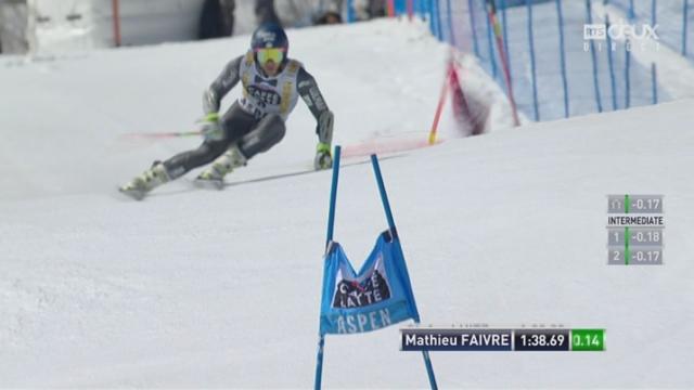 Aspen (USA), géant 2e manche: Mathieu Faivre (FRA) 3e [RTS]