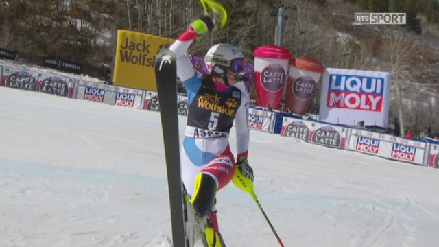 Aspen (USA), slalom 2e manche: Wendy Holdener (SUI) [RTS]