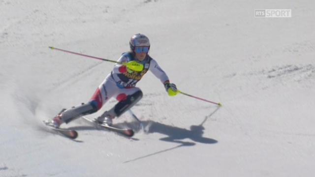 Aspen (USA), slalom 2e manche: Mélanie Meillard (SUI) [RTS]