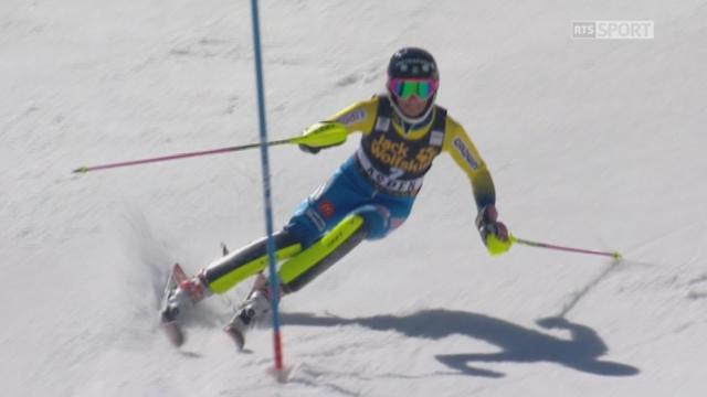 Aspen (USA), slalom 2e manche: Frida Hansdotter (SWE) 3e [RTS]