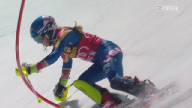 Aspen (USA), slalom 2e manche: Mikaela Shiffrin (USA) 2e [RTS]